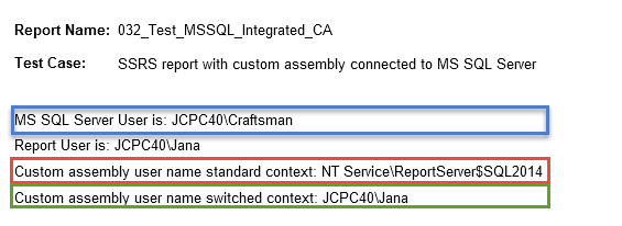 Run custom report assembly under current user name | Joyful